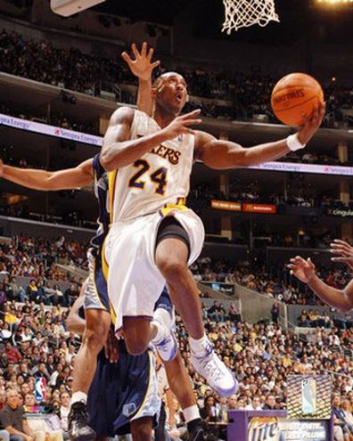 Kobe Bryant Picture: attacking the basket with the Lakers ...