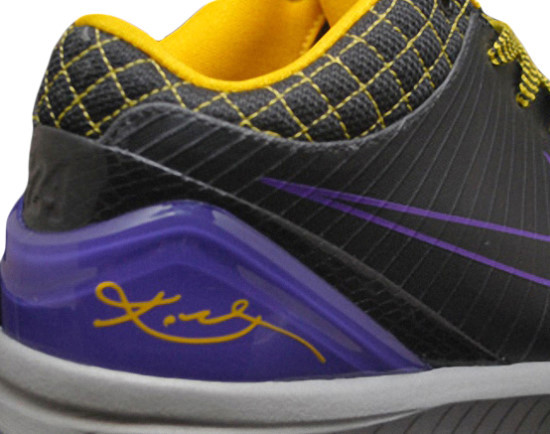newest d6648 e3384 Kobe Bryant Shoes Pictures  Nike Zoom Kobe IV 4 Lakers Edition Picture 12