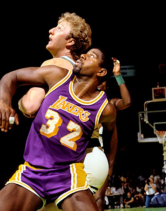 Lakers vs. Celtics Pictures: Magic Johnson and Larry Bird ...