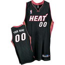 Custom Miami Heat Nike Black Road Jersey