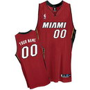 Custom Miami Heat Nike Red Alternate Jersey