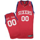 Custom Philadelphia 76ers Nike Red Replica Jersey